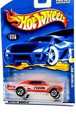Hot Wheels '67 Pontiac GTO  2000 Collector #226 Orange W/Tiger Racing