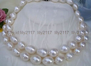 LONG 36 INCH NATURAL 9-10MM GENUINE AKOYA WHITE FRESHWATER PEARL NECKLACE