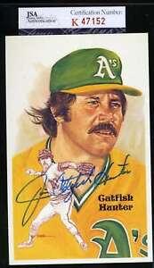 Jim Catfish Hunter Jsa Coa Autograph Perez Steele Signed