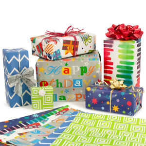 12pc Special Occasion Flat Wrap Assortment Wrapping Paper Party Birthday Gifts