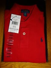 Ralph Lauren Bright Red Polo Top Age 3 4 5 6.7.8 10 12 Cotton 6 Years