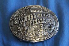 Vintage HESSTON NFR 1995 Belt Buckle NATIONAL FINALS RODEO NIP Country Western B