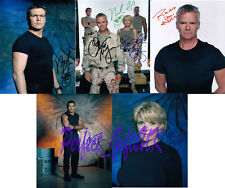 STARGATE SG1 CAST SET OF 5 SIGNED AUTOGRAPHED 10X8 REPRO PHOTO PRINT ANDERSON
