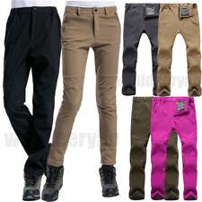 Men Women Winter Warm Outdoor Hiking Ski Pants Fleece Padded Windproof Trousers