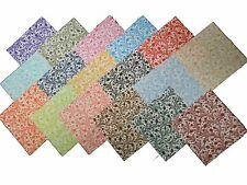 "68 5 inch Quilting Fabric Squares Beautiful ""SERENDIPITY""!!-5""-17 colors-4 each"