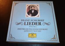 """SCHUBERT """"Lieder Volume 1"""" (9-CD Box Set 1992) DG Moore Fisher-Dieskau GREAT OOP"""