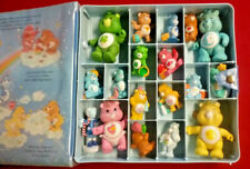 Vintage 1983 Kenner Care Bears Collector's Case & Lot of 18 Figures Poseable PVC