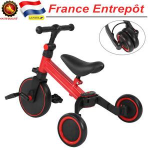 Pliable Draisienne 3 en 1 Tricycle Equilibre Velo sans Pedale Enfants de 1-3 Ans