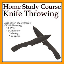 Home Study Course: Knife Throwing (Includes 3 Certificates & 2 DVDs)