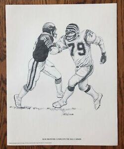 1981 NFL CINCINNATI BENGALS ROSS BROWNER Poster 11 x14