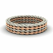 5mm Twisted Rope Style 10k Rose Gold Men's Engagement / Wedding Band Ring