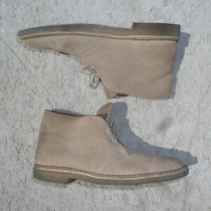 Clarks Original Desert Boots Men's US 10 M 31695 Beige Taupe Crepe Sole