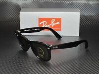 RAY BAN RB2140 901 Wayfarer Black Crystal Green 50 mm Unisex Sunglasses
