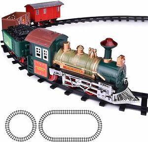 ArtCreativity Deluxe Train Set for Kids - Battery-Operated Toy with 4 Cars...