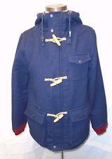 Native Youth Navy Wool Toggle Hodded Duffle Jacket Coat Small S/0 $168 NWOT