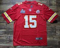 Patrick Mahomes #15 Kansas City Chiefs Super Bowl Jersey Medium