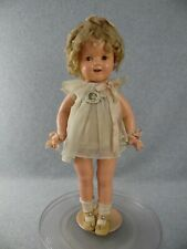 "18"" antique composition Ideal Shirley Temple Doll Curly Top in Dancing Dress"