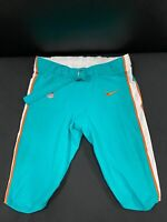 #78 MIAMI DOLPHINS NIKE GAME USED AQUA CURRENT STYLE PANTS 2019/2020 SEASON
