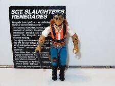 1987 GI JOE SGT SLAUGHTER RENEGADES RED DOG v1 100% COMPLETE C9+ - HASBRO