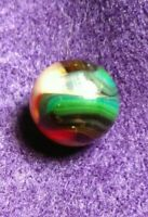 OxBlood Red Transparent Tri Color Swirl Vitro/Jabo Classic  Vintage Toy Marbles