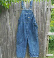 Osh Kosh mens carpenter overalls vestbak Union Made Sanforized denim work wear