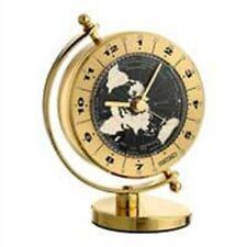 Seiko Hora Mundial Reloj De Mesa Caja de Latón con diseño Gimbaled QHG106GLH