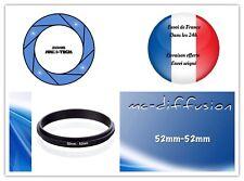 Bague Anneau adaptateur pour Objectif Couplage Mâle-Mâle 52mm—52mm