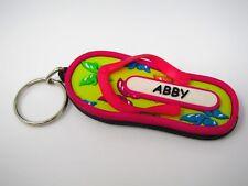 Vintage Keychain: ABBY Pink Flower Sandal