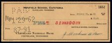 Cheque - USA - Cleveland National Bank, Cleveland Tennessee, 1962, No:- 1652