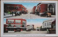 Laurel, MS 1920 Postcard: Oak Street/Central Avenue/Cars - Mississippi Miss