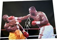 Larry Holmes Signed Right Hook vs. Holyfield 11x14 Photo PSA COA LST645