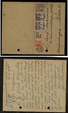 Hungary  uprated registered postal card  registered  1918         RL0801