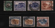 SOUTH AFRICA 7 English Afrikaans Se-Tenant Singles USED #23b//30b SCV $34.45