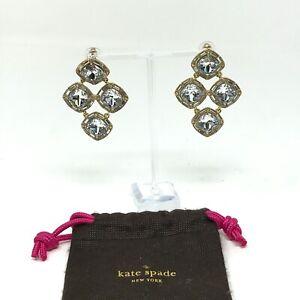 Kate Spade Women's Faux Fashion Diamond Crystal Oversized Cocktail Earrings