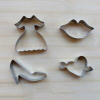 Stainless Steel Dress Lip High-heel Cookie Dessert Fruit DIY Mould Party#