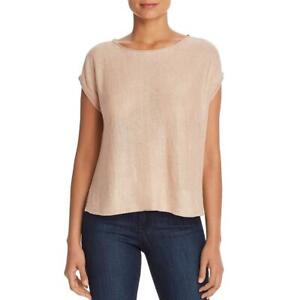 Eileen Fisher Womens Pink Organic Linen Hi-Low Box Top Shirt XXS/XS BHFO 8652