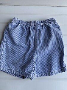 Polo Ralph Lauren 3-6 Mo boys Pull On shorts Denim Blue White Stripes