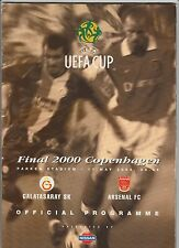 Orig.PRG   UEFA Cup  1999/00  FINALE   GALATASARAY ISTANBUL - ARSENAL FC  !  TOP