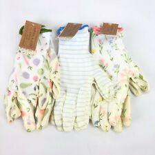 3 Pack Medium Garden Gardener Gardening Gloves Yard Nitrile Knit Wrist NWT