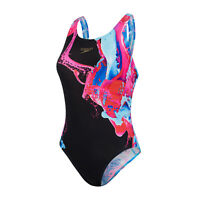 SPEEDO WOMENS SWIMSUIT.COLOURFLOOD PLACEMENT ENDURANCE+ SWIMMING COSTUME S20 55