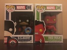 Funko Pop US Agent And Red Hulk