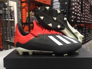 Adidas Junior X 18.1 FG Soccer Cleats (Black/White/Red) Size: 4, 4.5 Y NEW!