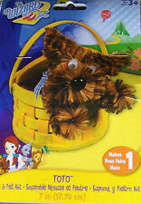 """Toto In A Basket  Foam & Felt Kit  From The Wizard Of Oz  7"""" Tall"""