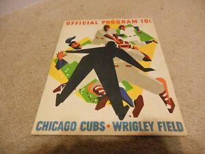 1963 Chicago Cubs Program/Scorecard Lou Boudreau autograph + 1953 Bowman Card