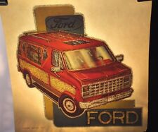 "1970's Vintage Roach Heat Transfer Iron On "" Ford Van "" (DFV65)"