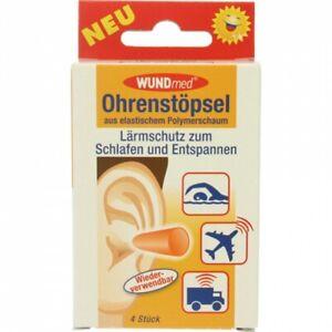 Ohrenstöpsel - 4 Stück - Lärmschutz - Gehörschutz - aus Polymerschaum - Stöpsel