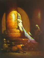 EGYPTIAN QUEEN Frank Frazetta Vintage Art 1969 Full Color Plate Fantasy GGA Nude