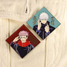 Jujutsu Kaisen Itadori Yuji Gojo Satoru Brooch Badge Pin Anime Cosplay Gifts