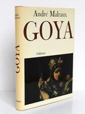 Saturne Le destin, l'art et Goya. André MALRAUX. nrf-Gallimard, 1978. Relié
