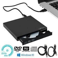 USB 2.0 External DVD Drive Player Slim CD DVD RW Burner Rewrite For PC Laptop